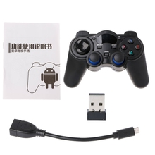 OOTDTY 2.4G Wireless Gaming Joystick Controller Gamepad For Android Tablet PC Smart TV Box