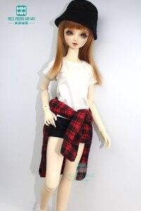 Аксессуары BJD кукольная одежда подходит для 57-60 см 1/3 BJD DD SD кукла модная красная клетчатая рубашка, футболка