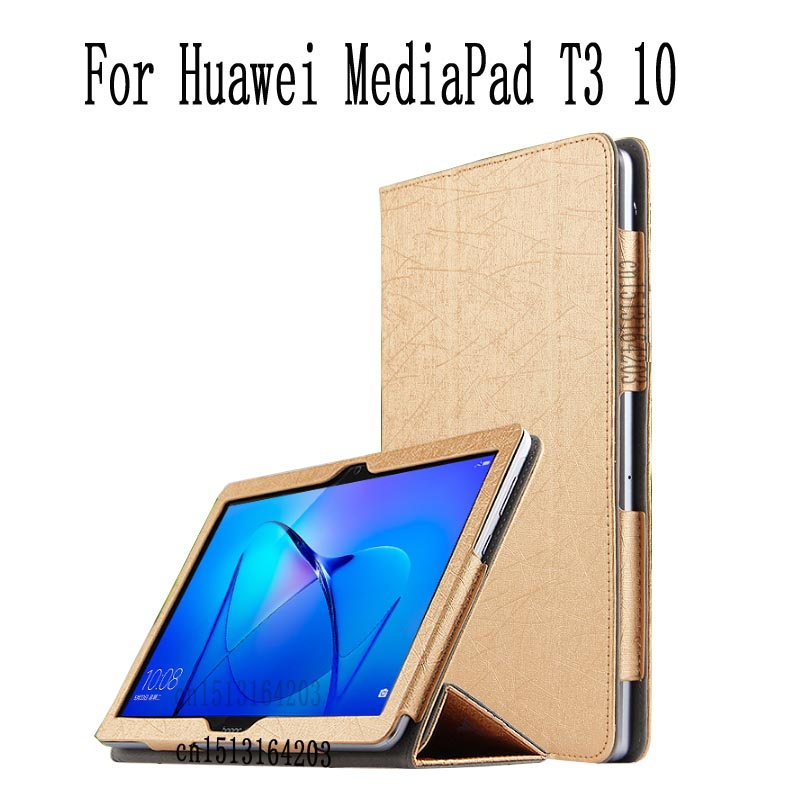 Case For Huawei MediaPad T3 10 Tablet Stand Slim Cases For 9.6 inch Honor Play Pad 2 Cover Case AGS-L09 AGS-L03 + gift mediapad m3 lite 8 0 skin ultra slim cartoon stand pu leather case cover for huawei mediapad m3 lite 8 0 cpn w09 cpn al00 8