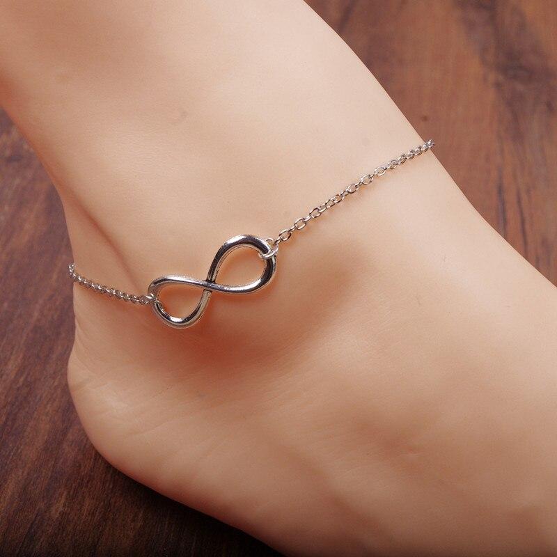 infinity anklet barefoot sandals enkelbandje ankle bracelet cheville halhal anklet foot bracelet anklet jewelry