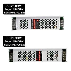 Image 5 - Ultra mince LED transformateurs alimentation DC 12 V bandes 100 W 150 W 200 W 300 W AC190 240V pilote pour ampoules néons à LED