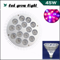 Full Spectrum LED grow light 45W E27 10red 5Blueled LED Grow Lamps For Hydroponics Vegetables and Flowering Plants grow tent box
