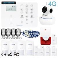 HOMSECUR inalámbrico y con cable 4G LCD sistema de alarma de seguridad para el hogar + IOS/Android APP GA01 4G W|Kits de sistemas de alarma| |  -