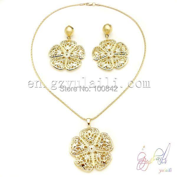 dubai golden jewelry set wedding jewellery designs cheap light