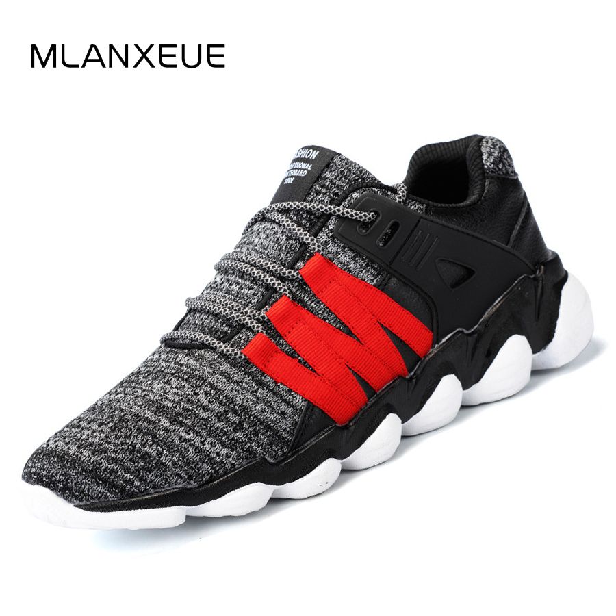 Fly 2018 Up Taille Plus Black Chaussures Mlanxeue Sneaker Maille Shoes Dentelle gray Armure Automne Non Shoes Hommes La white Occasionnels Respirant slip Étudiants Shoes a4Od4f