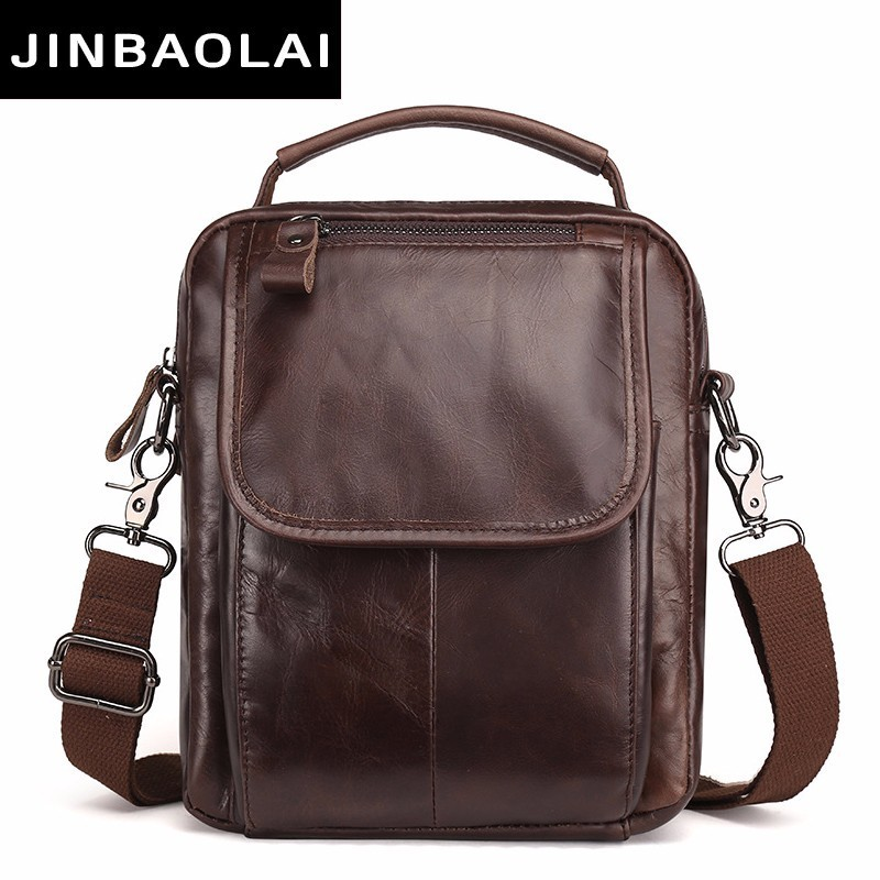 Messenger Bag Men Shoulder bag Cowhide Genuine Leather Small male man Crossbody bags for Messenger men Leather bags Handbag 8894