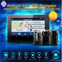 7 Car DVR Dash Cam Android GPS Navigation Radar detector dvr auto camera G Sensor Full HD 1080P Built in 16GB free Newest Map