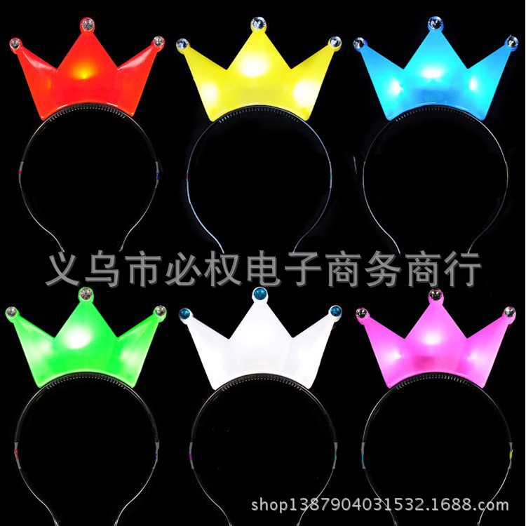 2016 Luminous 117 hair bands hairpin headband flash buckle star bar birthday party toys 2pcs free shipping