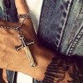 Такахаши Горо перо Перо Распятие Иисуса Креста Ожерелье Из Нержавеющей Стали Религиозные Креста Ожерелье Женщины Мужчины