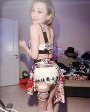 Hot girls Sexy baile hiphop trajes Halloween cosplay rendimiento nightclub  dance wear 0929e5f5c383