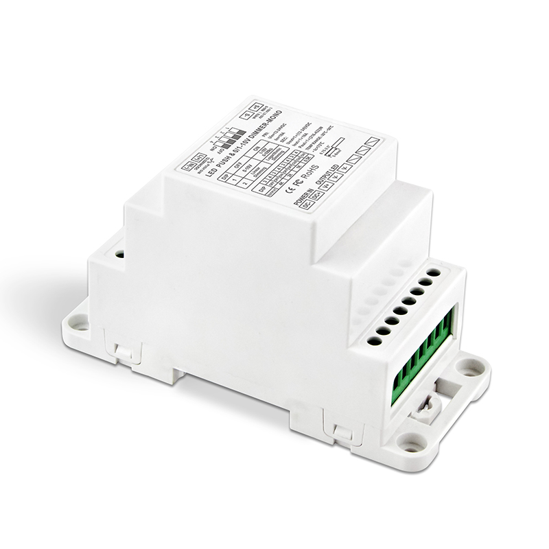 цена на New Led power driver 0-10V 1-10V to PWM LED dimming driver;DC12-24V input;18A*1CH output DIN Rail dimmable Led Dimming driver