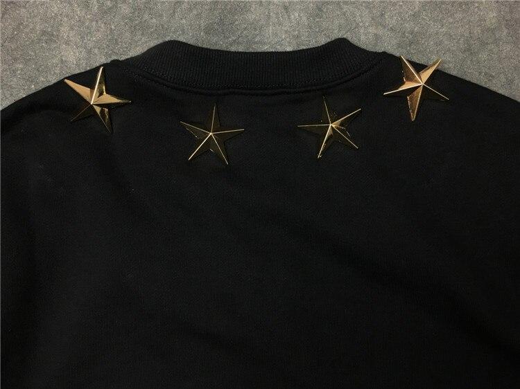 Nouveau hommes 7 4 metal stars sweats à capuche sweats à capuche velours coton Drake épais polaire Street Hip hop # E155 - 4