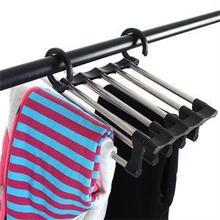 Полезная 5 в 1 из нержавеющей стали многофункциональная выдвижная стойка для брюк вешалка для одежды бытовые стеллажи для хранения