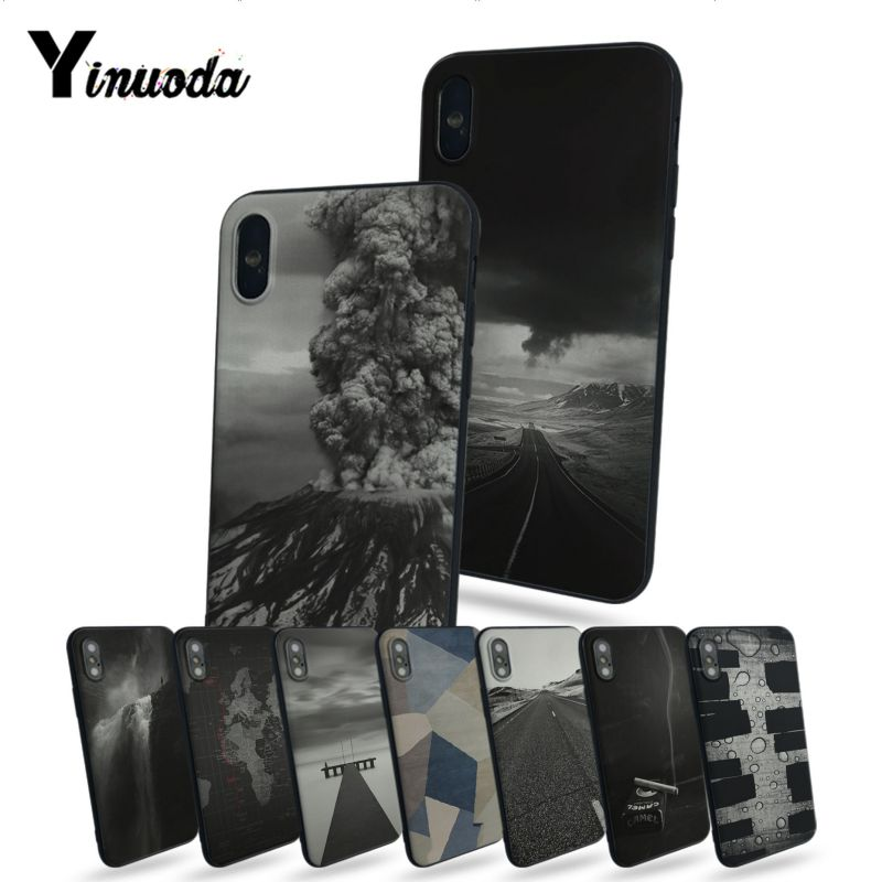 Yinuoda Ash Road Pattern Skin Volcano Unique Design High Quality phone case For iphone 7 7plus X 8 8plus And 5 5s 6s 6s Plus image
