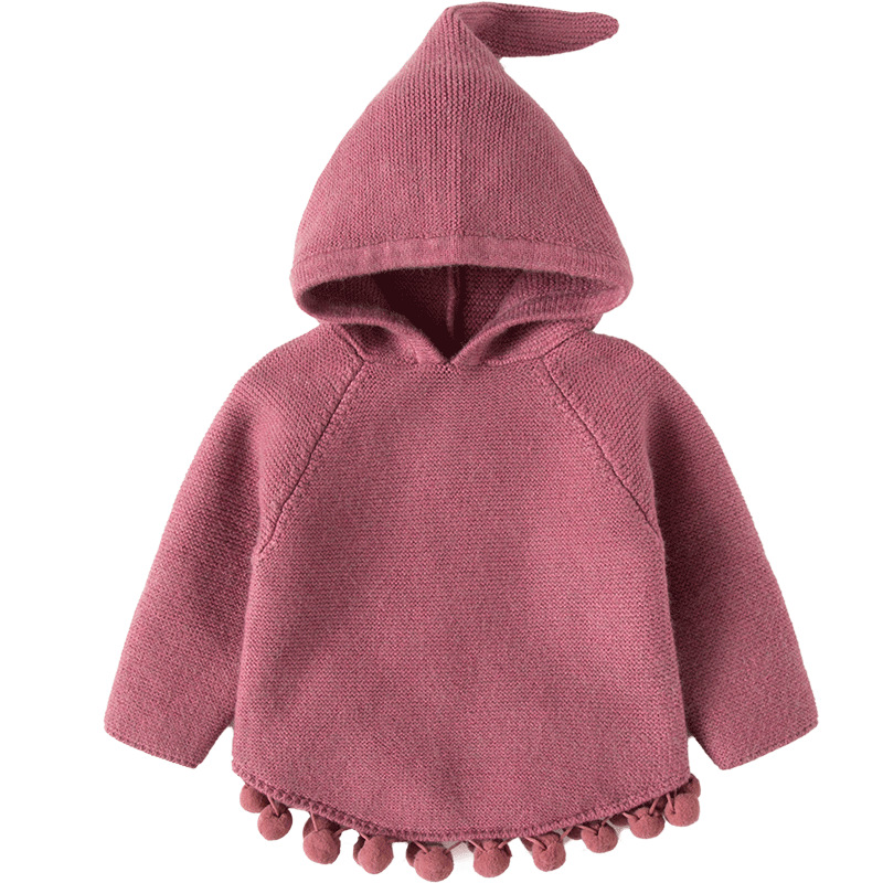 Autumn Winter Children's Sweaters Hooded Toddler Girls Knitted Sweater Casual Knitwear Baby Girls Clothes RT133 цена 2017