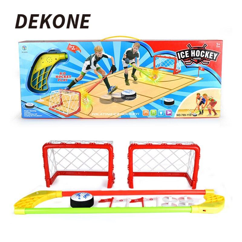Mini objectif de Hockey en plastique bâton avec lumière et musique pour divertissement familial cadeaux de fête d'anniversaire sport jeu jouet