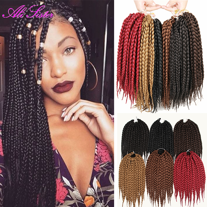 box braids hair extensions synthetic