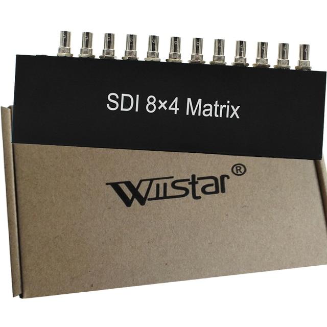 SDI 8x4 Matrix Converter Adapter Full-HD SD HD 3G SDI Signal Input 8 Input Ports to 4 Output Ports Free Shipping