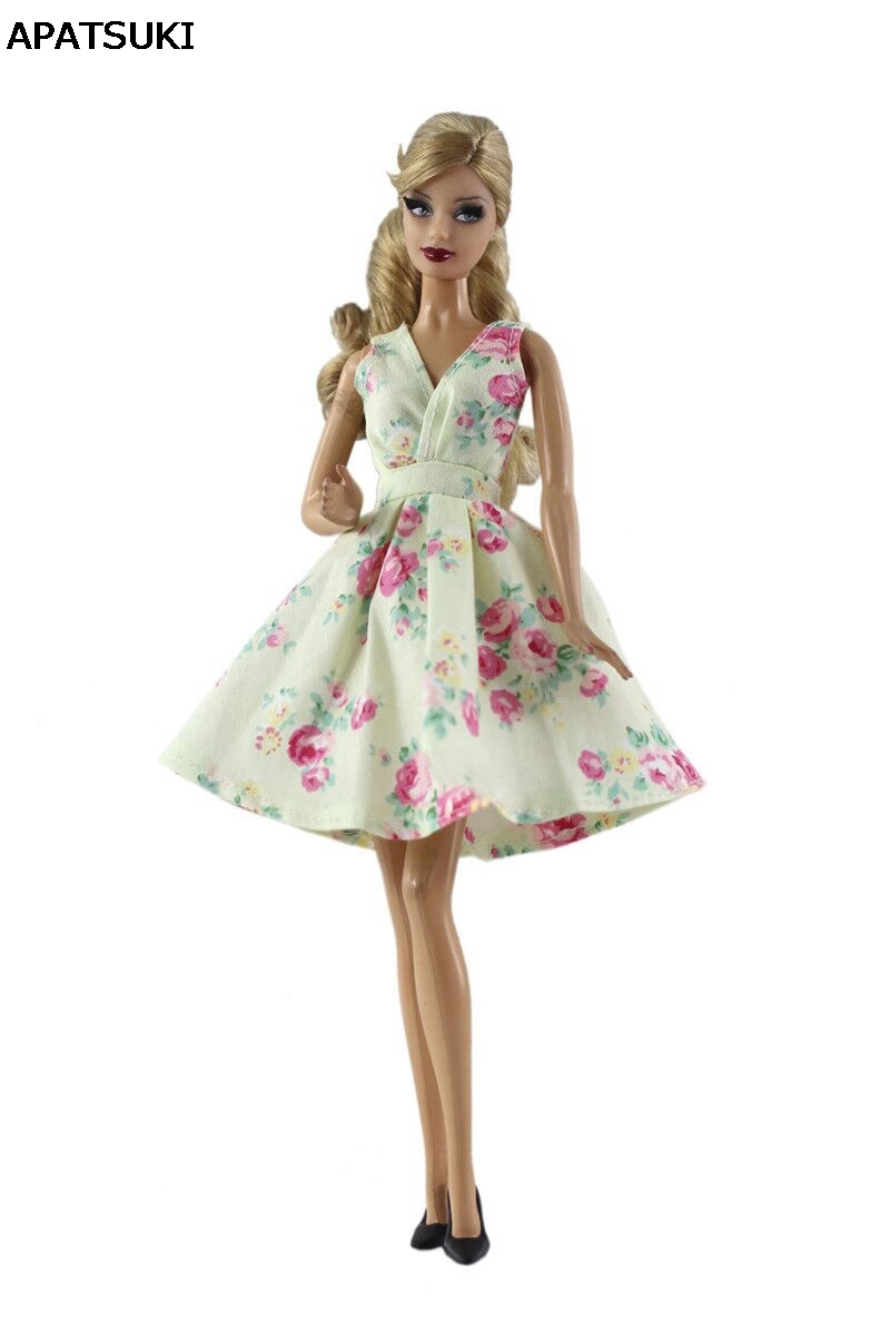 latest fashion first look performance sportswear US $3.59 40% OFF Light Yellow Flower Office Lady Fashion Dress For Barbie  Doll Clothes Classical Outfits For Barbie Dolls 1/6 Doll Accessories-in ...