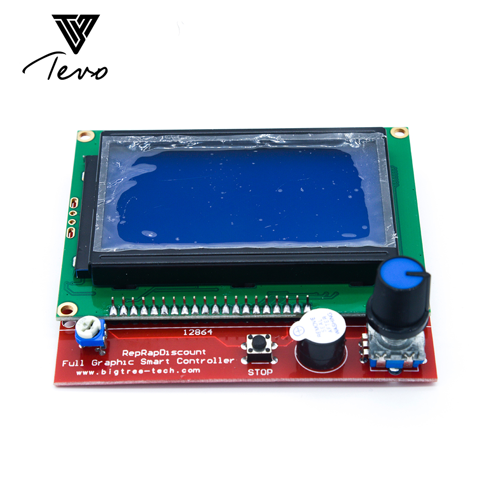 3D Printer Accessory RAMPS1.4 for TEVO Black widow 12864 LCD control panel 3D printer controller Display with free shipping