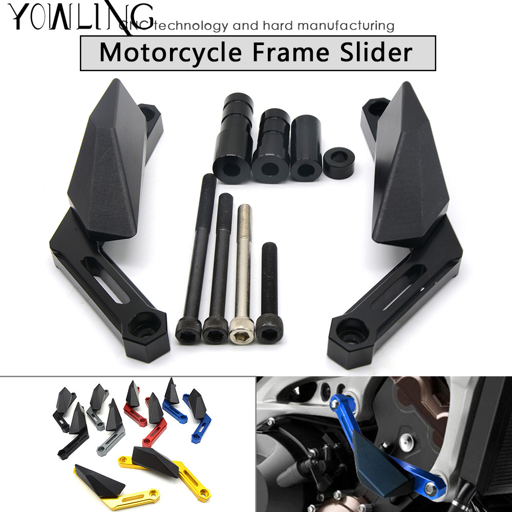 Motorcycle CNC crash pad Engine Cover Frame Sliders Crash Protector FOR yamaha MT-09 FJ09 FZ09 MT09 MT 09 2013 2014 2015 2016 motorcycle frame sliders crash falling protection anti crash protectors for mt09 fz09 mt 09 fz 09 fz mt 09 2013 2014 2015 2016