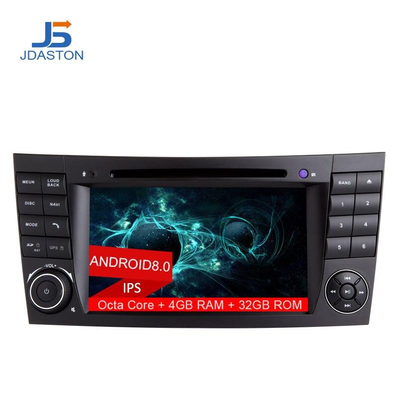 JDASTON 2 DIN 7 дюймов Android 8,0 dvd-плеер автомобиля для Mercedes Benz W211 CLK W209 CLS W219 восемь ядер 4 ГБ Оперативная память радио gps навигации