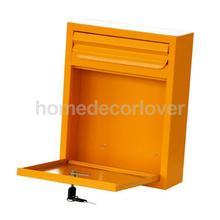 Оловянный металлический замок для почтового ящика, коробка для сообщений, настенная почтовая коробка, почтовые ящики для безопасности, запираемые, сельские почтовые ящики для безопасности