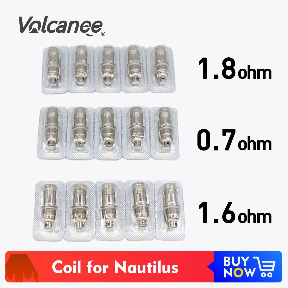5pcs/pack Volcanee BV Coil 0.7 1.6 1.8ohm Coil Head For BVC For Nautilus 2/Mini /K3/Triton Mini Coil Vape Core