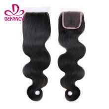 Cheap Brazilian Body Wave Lace Closure on sale 100% Human Hair Virgin Brazilian Free Part Lace Frontal Body Wave Closure