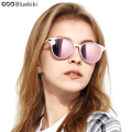 KIKI 2017 Women Polarized Sunglasses Brand Designer Cat eye Driving Sun Glasses Round Brand Designer gafas de sol mujer #6078