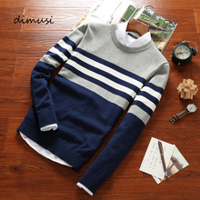 DIMUSI Autumn Men s Pullover Sweaters Mens Turtleneck Casual Sweater Male Striped Slim Fit Knitted Pullovers