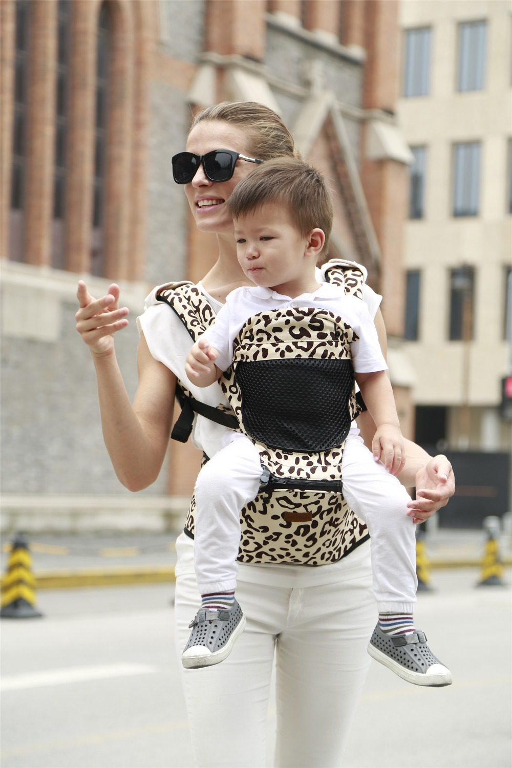 Hot Selling Most Popular Leopard Baby Carrier Infant Sling Toddler
