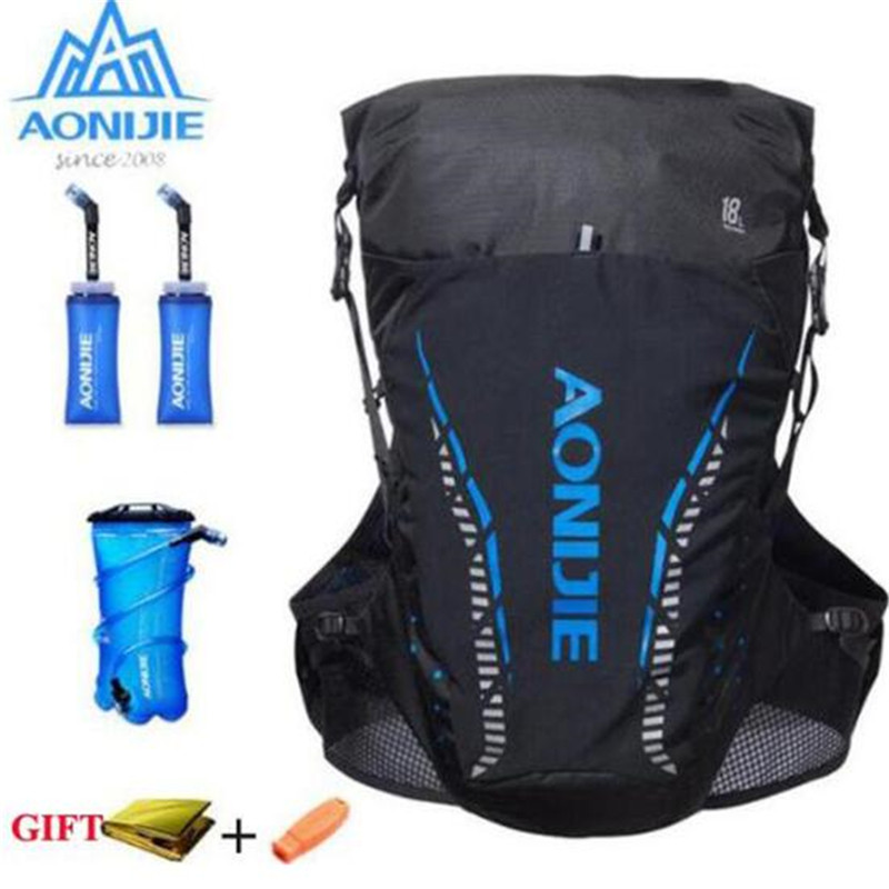 AONIJIE 18L Backpack Outdoor Sports Bag Trail Running Vest Hydration Bag Marathon Cycling Hiking Running For 2L Water Bladder-in Running Bags from Sports & Entertainment    1