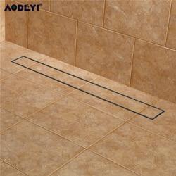 AODEYI 304 нержавеющая сталь 60 см плитка вставка прямоугольная линейная анти-запах трап ванная комната оборудование Невидимый душ 11-208