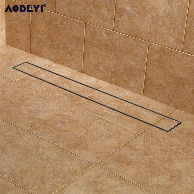 AODEYI 304 вставка для плитки из нержавеющей стали 60 см Прямоугольный линейный анти запах Слив для пола оборудование для ванной комнаты Невидимый душ 11 208