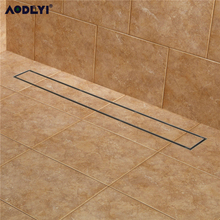 AODEYI 304 Stainless Steel 60cm Tile Insert Rectangular  Linear Anti Odor Floor Drain Bathroom Hardware Invisible Shower 11 208