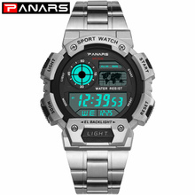 PANARS New Arrival Stainless Steel Military Sport Watches Electronic Men