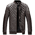 Mens Stand Collar Outwear Motocycle Jacket Coat Leather Style Fashion Men's Leather Coat Plus Size M-6XL 88