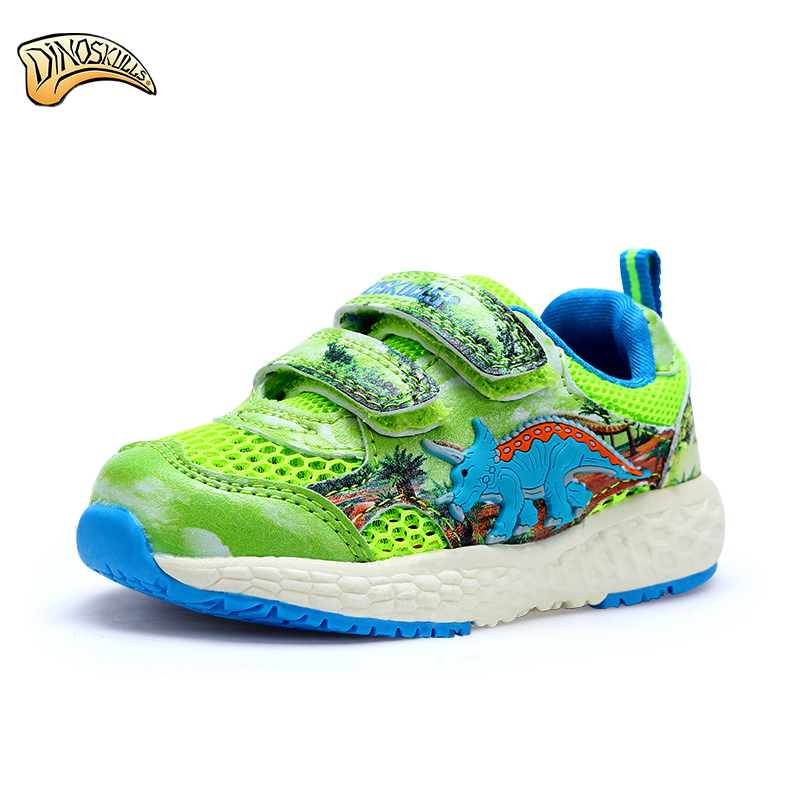 2017 baby mesh sneakers boys 3D dinosaur functional shoes fashion children summer shoes non-slip boys beach shoes size 22-26