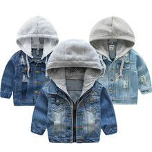 Baby Boys Denim Jacket 2019 Autumn Winter Jackets For Boys Coat Kids Outerwear Coats For Boys Clothes Children Jacket 2-7 Year(China)