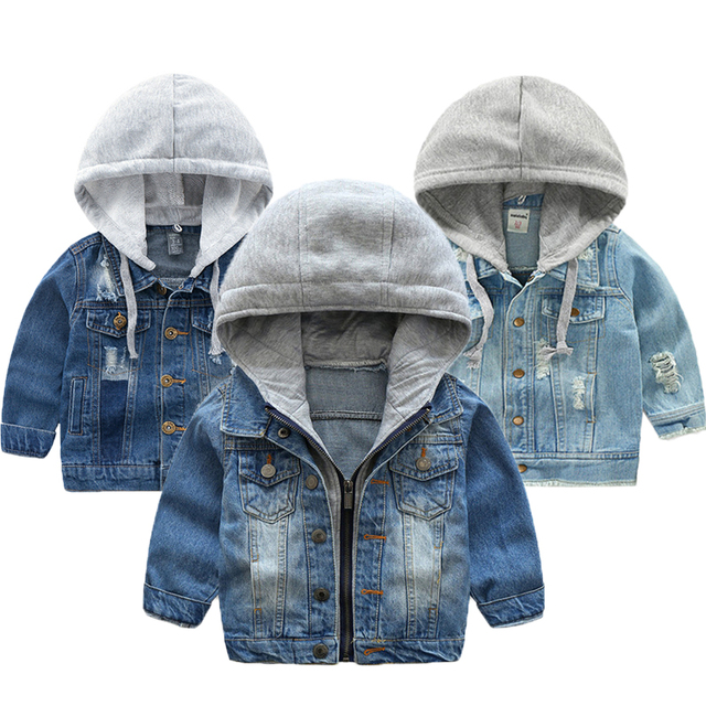 Baby Boys Denim Jacket 2019 Spring Jackets For Boys Coat Kids Outerwear Coats For Boys Clothes Children Jacket 2 3 4 5 6 7 Year