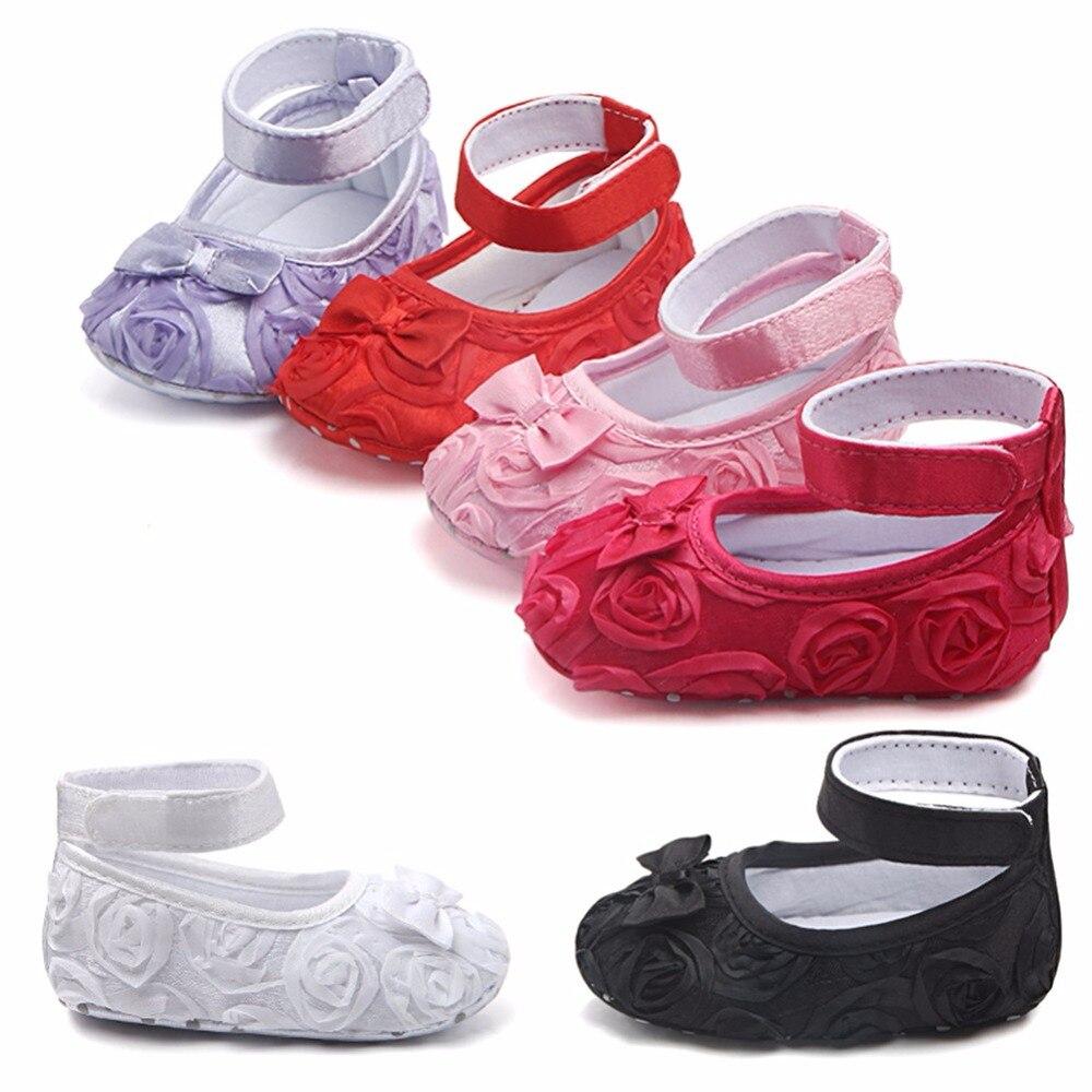 Cotton Baby Girl Shoes First Walker Anti-slip Toddler Infant Newborn Prewalker