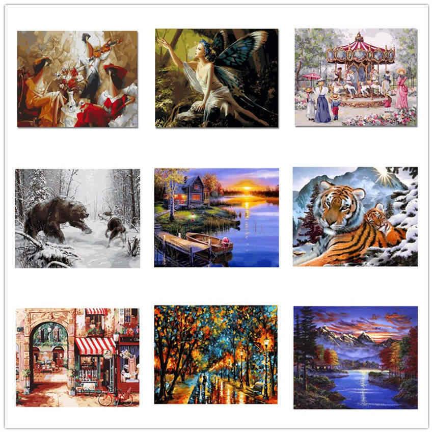 Dekorasi Ruang Tamu, Lukisan dengan Angka Di Atas Kanvas, Balon Warna-warni, Kanvas Gambar untuk Ruang Tamu