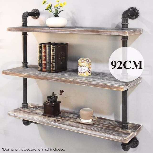 Wall Mounted Kitchen Wallshelf Industrial Practical 3 Layers Long