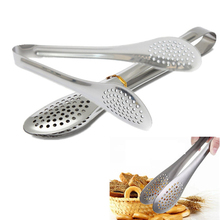 цена на New Stainless Steel Food Tongs Kitchen Buffet Cooking Tool Anti Heat Bread Clip Pastry Clamp Barbecue Tongs