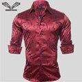 2017New Прибытие Мужчины Рубашка Отпечатано Повседневная Марка Clothing Длинным Рукавом деловое Платье Slim Fit Сорочка Homme Человек Плюс Размер 5XL N94