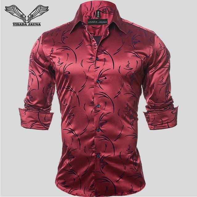 2017New Llegada Camisa de Los Hombres Impreso Marca De Ropa Casual de Manga Larga Vestido de negocios Slim Fit Chemise Homme Hombre Más El Tamaño 5XL N94