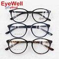 Nova moda das mulheres de alta qualidade de acetato cheia grande quadro retro rodada óculos óculos ópticos para lady popular new arrival H861