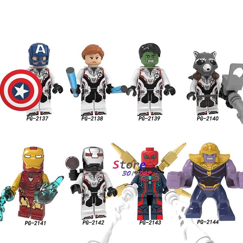 Single Avengers Endgame Endgame IronMan Iron Man MK85 Hulk Spider-Man Captain America Thanos building blocks Kids Toys