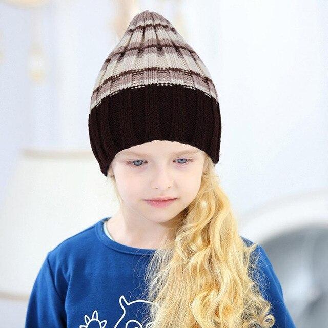 46826bfd9f637 Children Beanie For Boy Girls Hat Children Winter Hats Casquette homme  Headdresses for Kids Chapeau homme